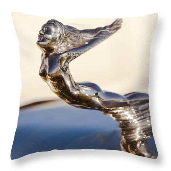 Flying Lady Hood Ornament Throw Pillow by Jill Reger