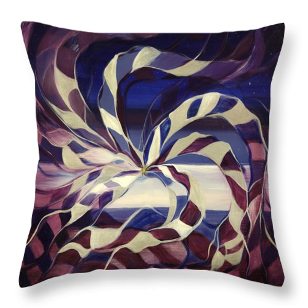 Throw Pillows - Focus -- Square Abstract Painting Throw Pillow by Gina De Gorna