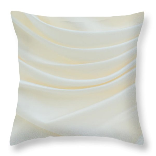 Folded Fabric Waves Throw Pillow by Meirion Matthias