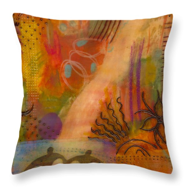 Follow The Yellow Brick Road Throw Pillow by Angela L Walker