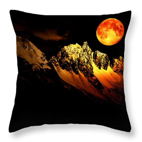 Follow Your Inner Moonlight Throw Pillow by Michele Cornelius