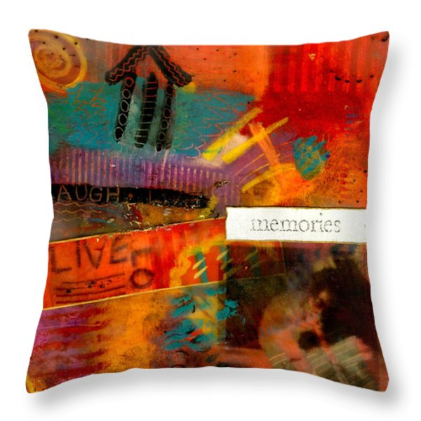 Fond Memories Throw Pillow by Angela L Walker