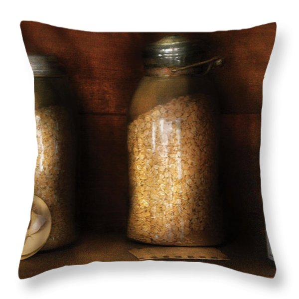 Food - Corn Yams And Oatmeal Throw Pillow by Mike Savad