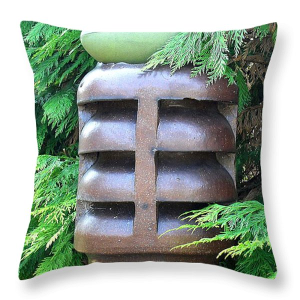 Football Throw Pillow by Patrick J Murphy