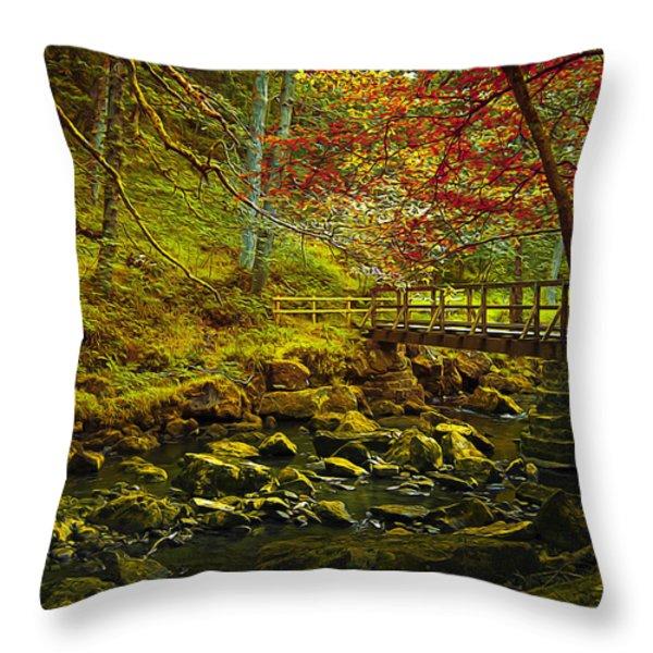 Forbidden Bridge  Throw Pillow by Svetlana Sewell