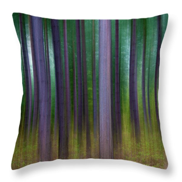 Forest Abstract02 Throw Pillow by Svetlana Sewell