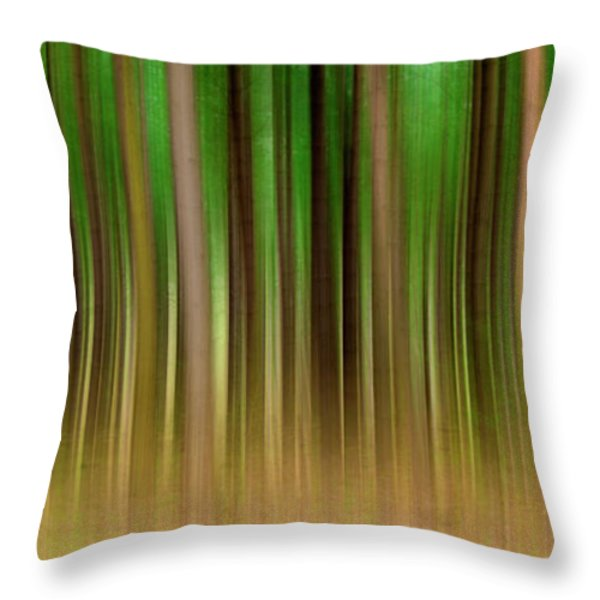 Forest Abstract04 Throw Pillow by Svetlana Sewell