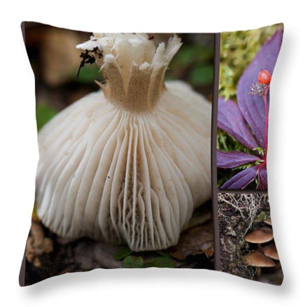 Forest Floor Throw Pillow by Lisa Knechtel