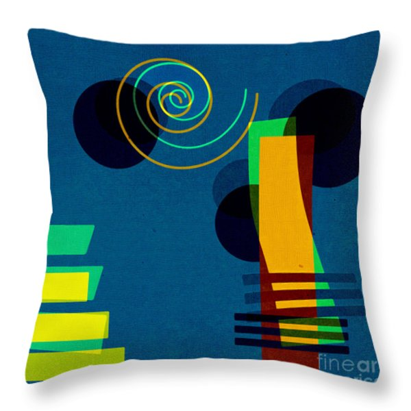 Formes - 03b Throw Pillow by Variance Collections