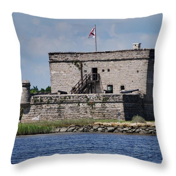 FORT MATANZAS Throw Pillow by Skip Willits