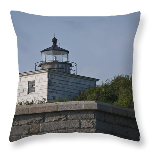 Fort Taber Lighthouse Throw Pillow by David Gordon