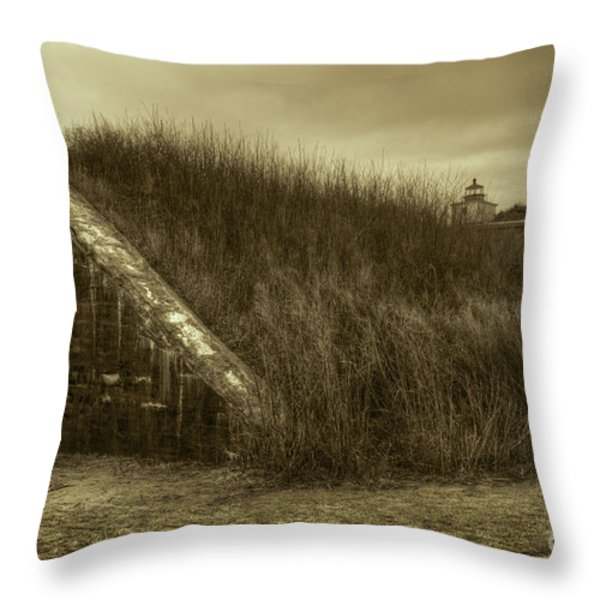 Fort Taber No. 1 Throw Pillow by David Gordon