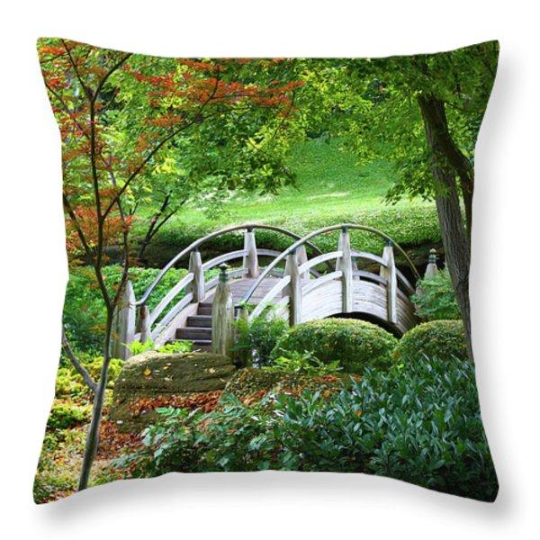 Fort Worth Botanic Garden Throw Pillow by Joan Carroll
