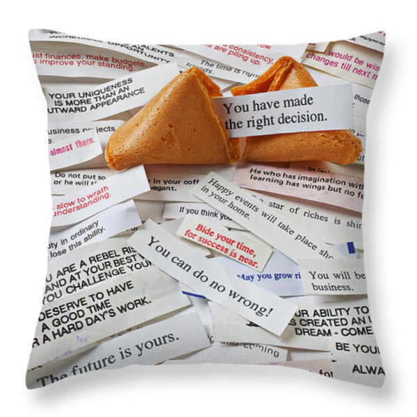 Fortune Cookie Sayings  Throw Pillow by Garry Gay