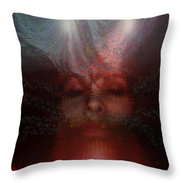 Fortune Teller Throw Pillow by Linda Sannuti