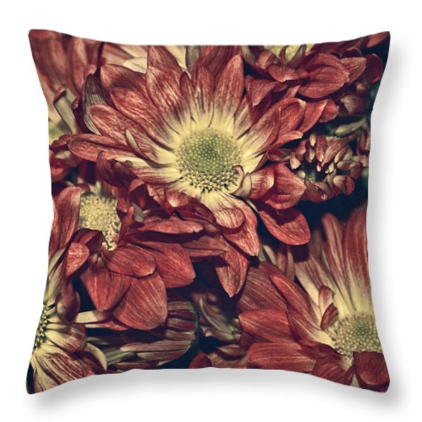 Foulee de petales - 04b Throw Pillow by Variance Collections