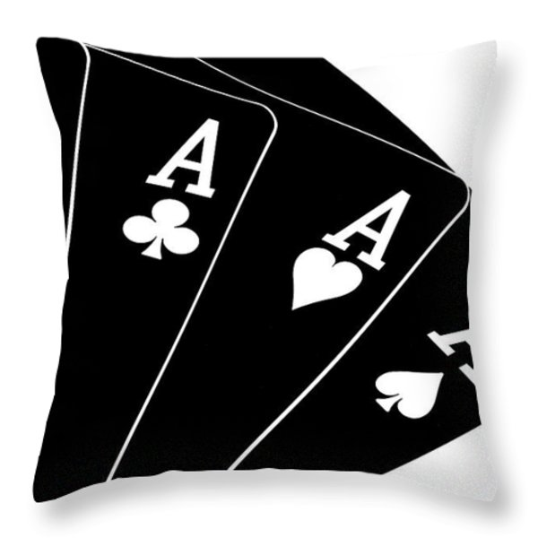 Four Aces II Throw Pillow by Tom Mc Nemar