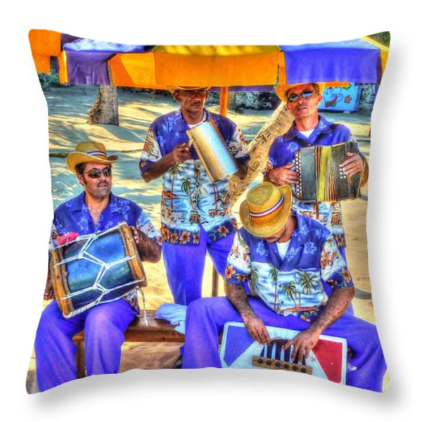 Four Man Band Throw Pillow by Michael Garyet