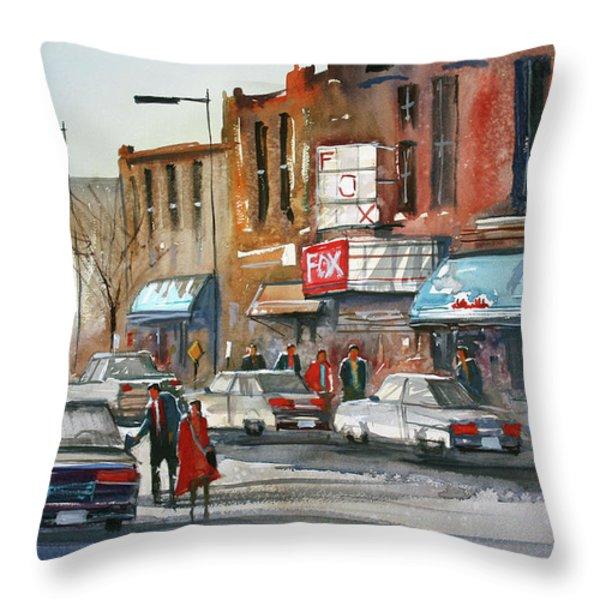 Fox Theater - Steven's Point Throw Pillow by Ryan Radke