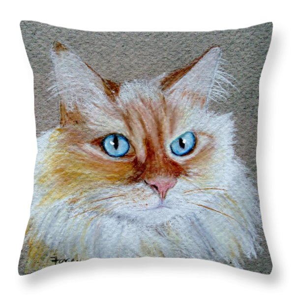 Foxey Throw Pillow by Jamie Frier