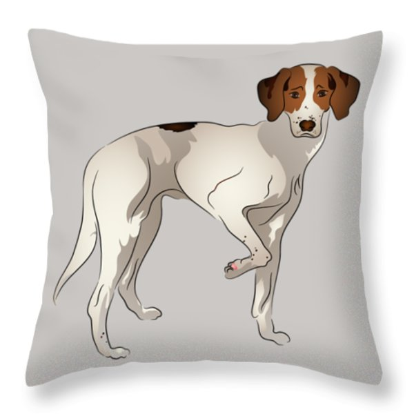 Foxhound Throw Pillow by MM Anderson