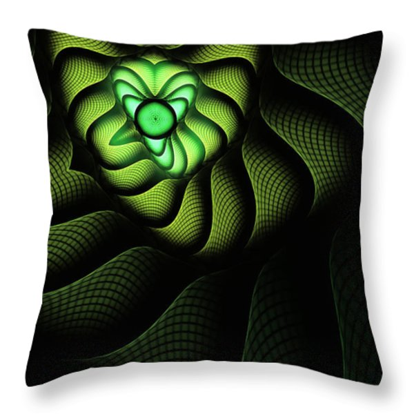 Fractal Cobra Throw Pillow by John Edwards