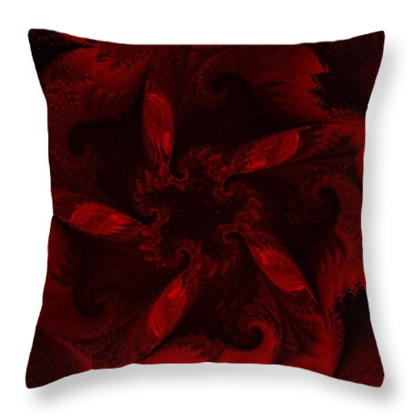 Fractal Garden 18 Throw Pillow by David Lane