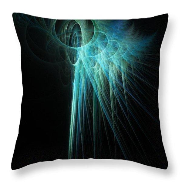 Fractal Rays Throw Pillow by John Edwards