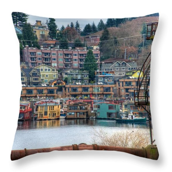 Framed in Seattle Throw Pillow by Spencer McDonald