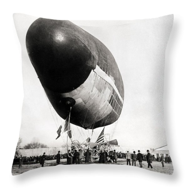 Francois Airship, 1904 Throw Pillow by Granger
