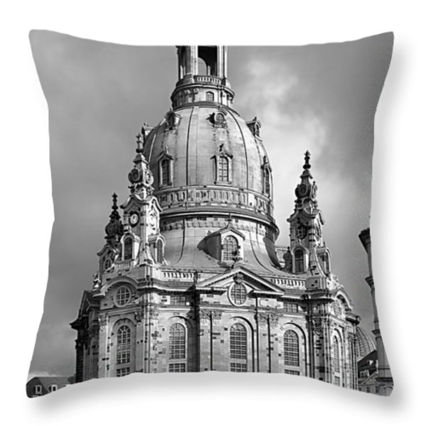 Frauenkirche Dresden - Church of Our Lady Throw Pillow by Christine Till