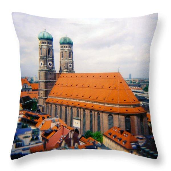 Frauenkirche Munich  Throw Pillow by Kevin Smith