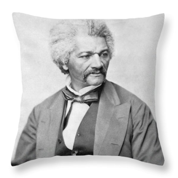 Frederick Douglass Throw Pillow by War Is Hell Store