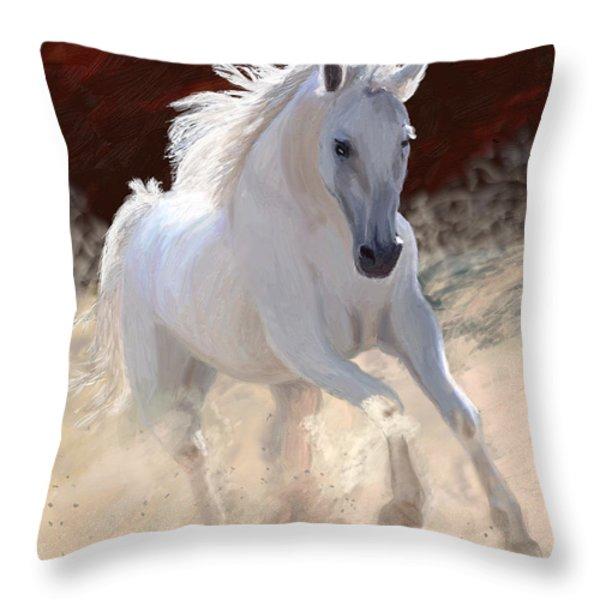 Free Spirit Throw Pillow by James Shepherd