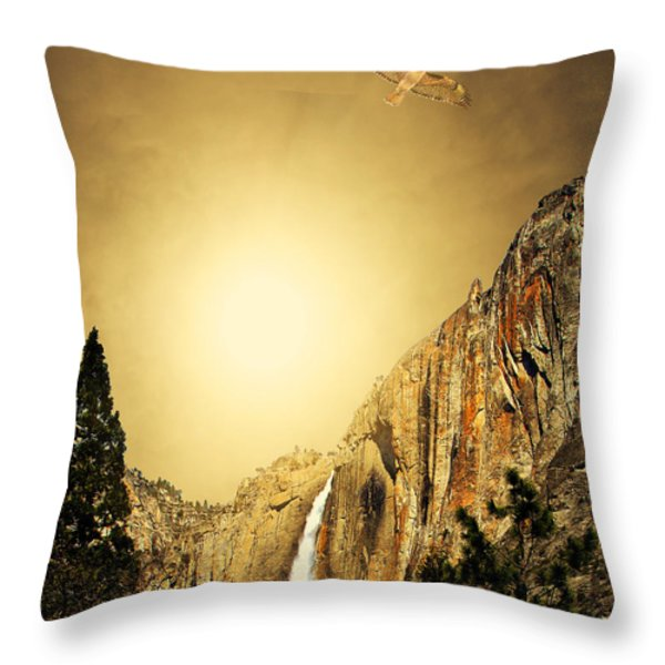 Free To Soar The Boundless Sky . Portrait Cut Throw Pillow by Wingsdomain Art and Photography