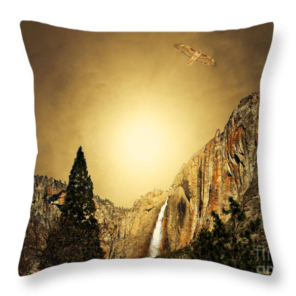 Free To Soar The Boundless Sky Throw Pillow by Wingsdomain Art and Photography