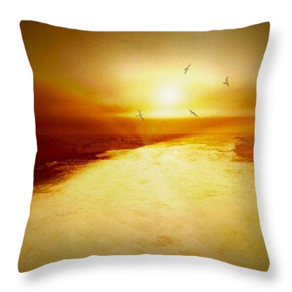 Freedom escape Throw Pillow by Linda Sannuti