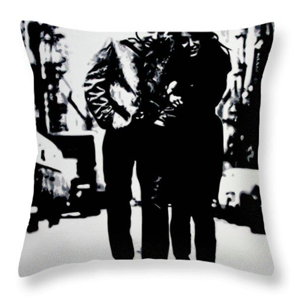 Freewheelin Throw Pillow by Luis Ludzska