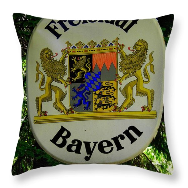 Freistaat Bayern Throw Pillow by Juergen Weiss