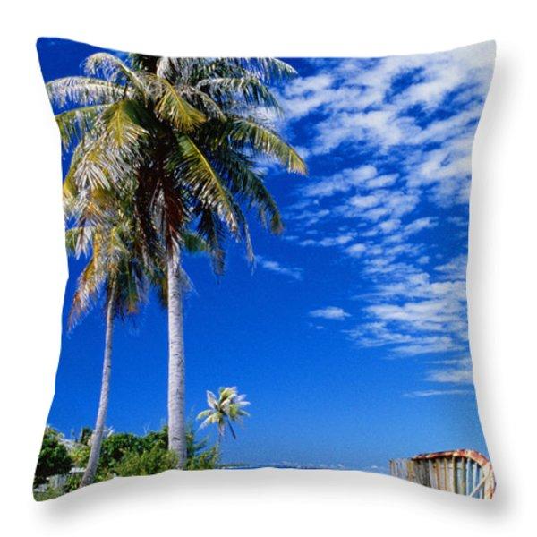 French Polynesia, Beach Throw Pillow by Peter Stone - Printscapes