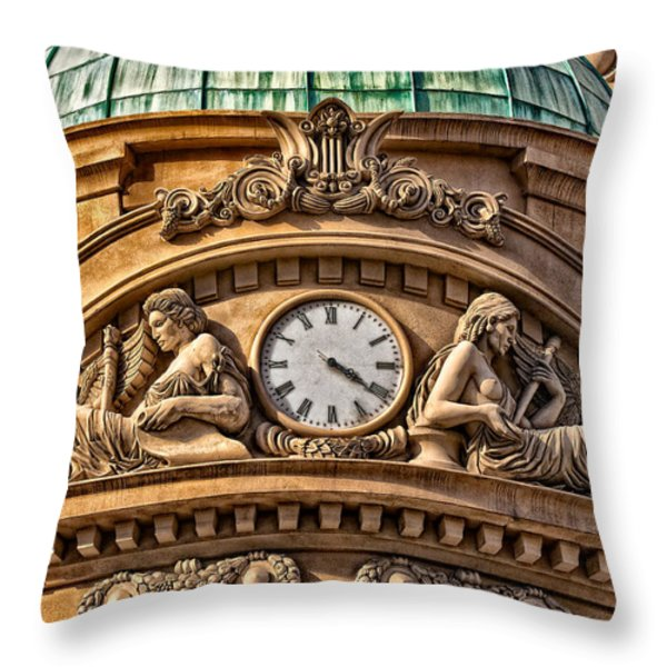 French Time Throw Pillow by Christopher Holmes
