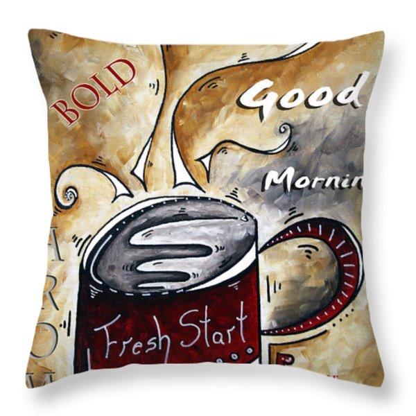 Fresh Start By Madart Throw Pillow by Megan Duncanson