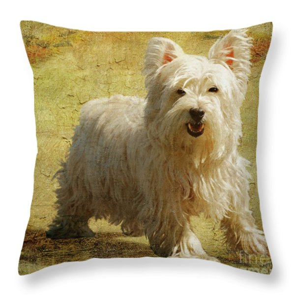 Friendly Smile Throw Pillow by Lois Bryan