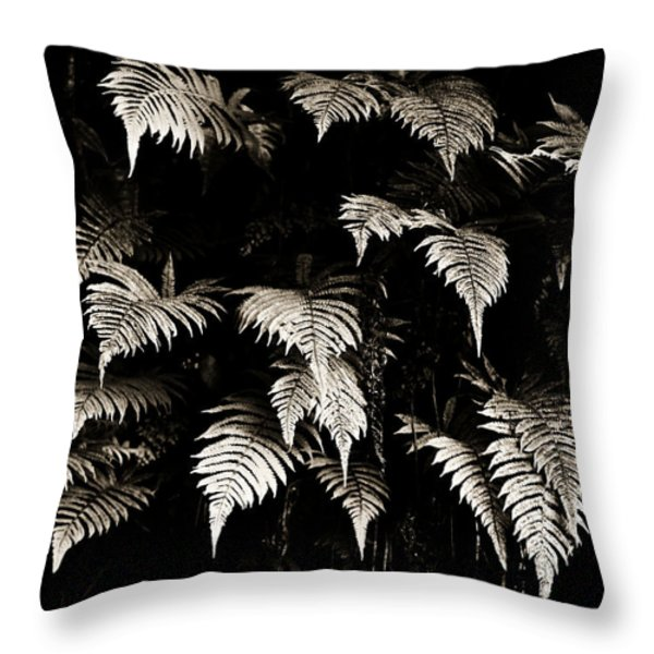 Fronds Throw Pillow by Marilyn Hunt