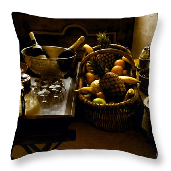 Fruits Of France Throw Pillow by Madeline Ellis