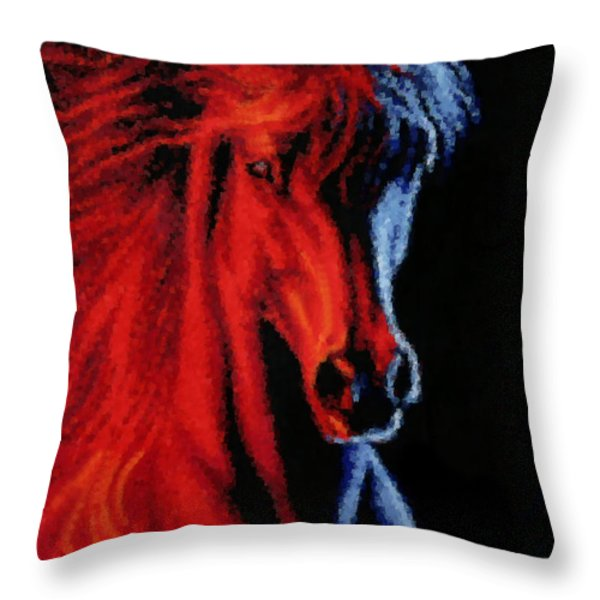 Full Tilt Throw Pillow by Kristin Elmquist