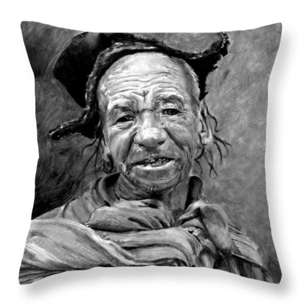 Funky Hat Throw Pillow by Enzie Shahmiri