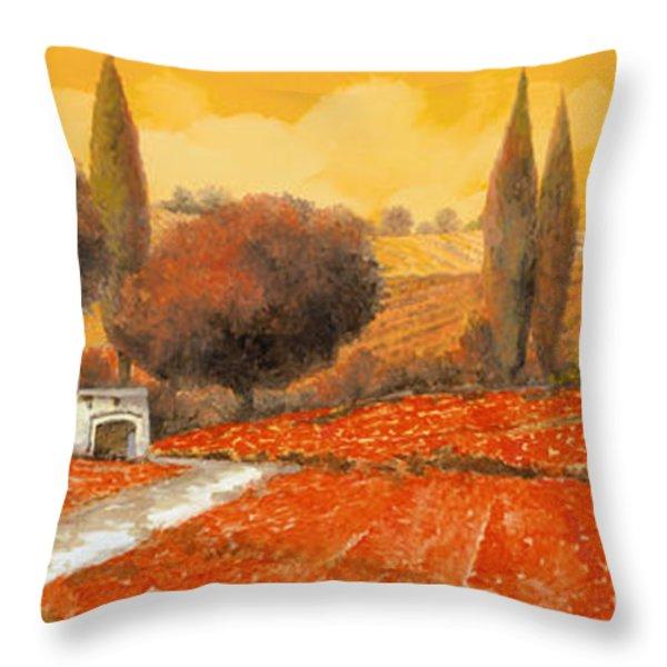fuoco di Toscana Throw Pillow by Guido Borelli