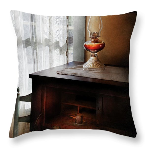 Furniture - Lamp - I Used To Write Letters  Throw Pillow by Mike Savad