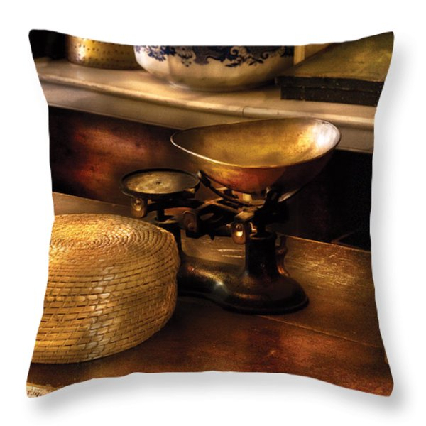 Furniture - Table - Curious Items For Sale Throw Pillow by Mike Savad